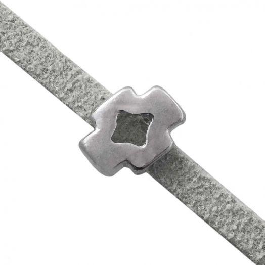 Schuiver (Binnenmaat 3 x 2 mm) Antiek Zilver (10 Stuks)