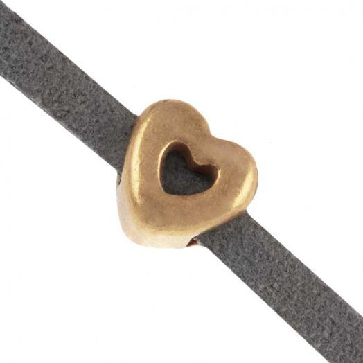 Schuiver (Binnenmaat 3 x 2 mm) Goud (10 Stuks)