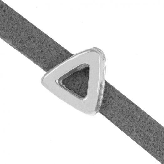 Schuiver (Binnenmaat 3 x 1.8 mm) Antiek Zilver (10 Stuks)