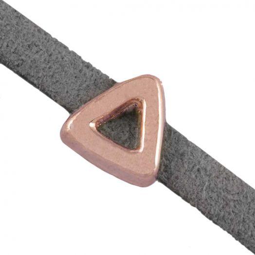 Schuiver (Binnenmaat 3 x 1.8 mm) Rose Goud (10 Stuks)