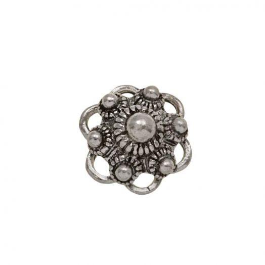 Zeeuwse Knop Cabochon (13 mm) Antiek Zilver (5 stuks)