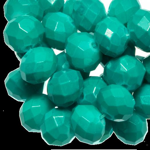 Facetkralen Rondell (2 x 3 mm) Teal (150 Stuks)