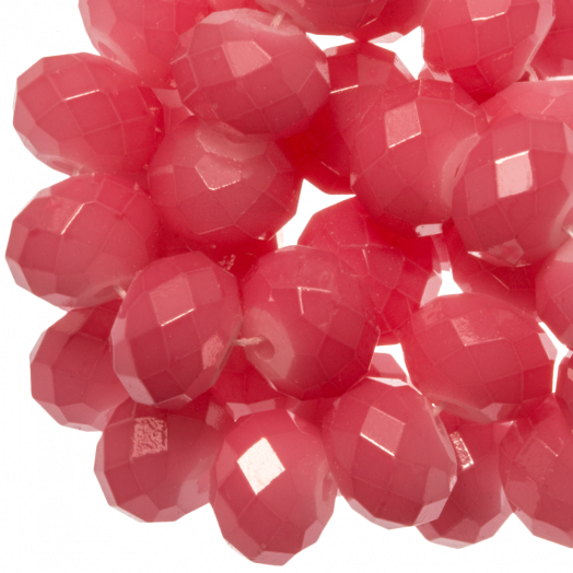 Facetkralen Rondell (3 x 4 mm) Bright Blush Pink (147 Stuks)