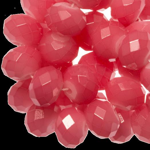 Facetkralen Rondell (8 x 6 mm) Bright Blush Pink (72 Stuks)