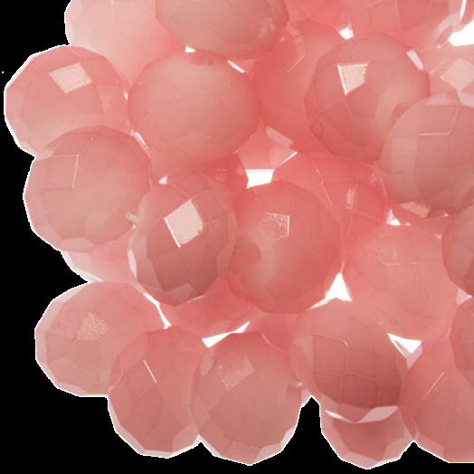 Facetkralen Rondell (8 x 6 mm) Salmon Pink (72 Stuks)
