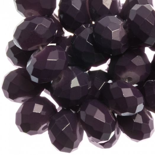 Facetkralen Rondell (8 x 6 mm) Dark Grape (72 Stuks)