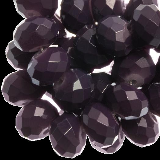 Facetkralen Rondell (3 x 4 mm) Dark Grape (147 Stuks)
