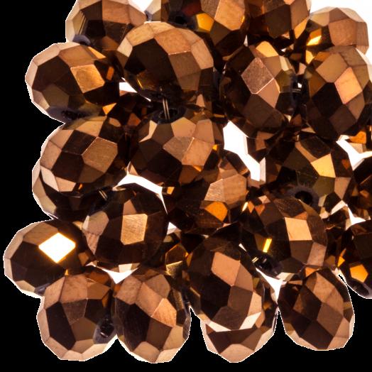 Facetkralen Rondell (6 x 4 mm) Copper Shine (95 Stuks)