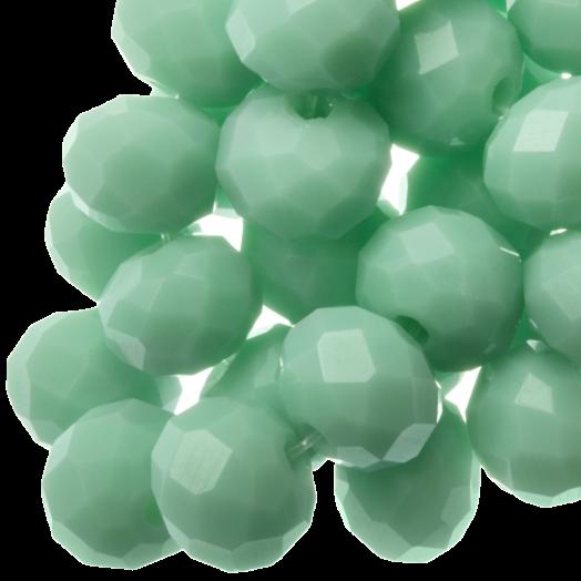 Facetkralen Rondell (3 x 4 mm) Clear Mint Green (147 Stuks)