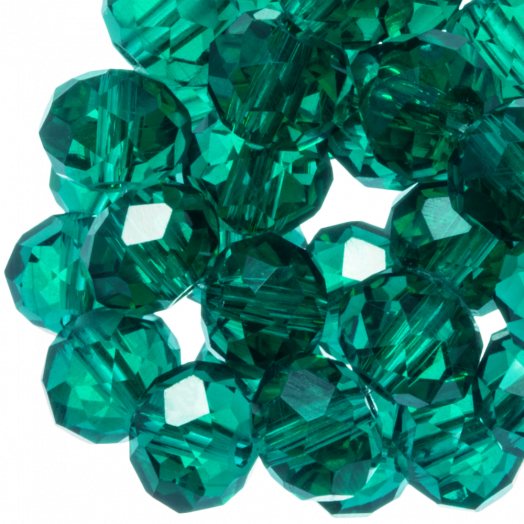 Facetkralen Rondell (2 x 3 mm) Transparent Green (150 Stuks)