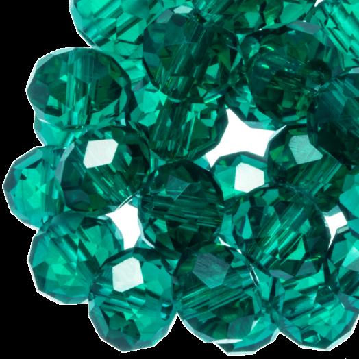 Facetkralen Rondell (6 x 4 mm) Transparent Green (95 Stuks)