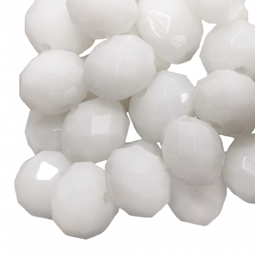 Facetkralen Rondell (2 x 3 mm) White (150 Stuks)
