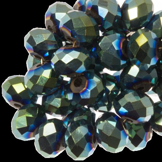 Facetkralen Rondell (6 x 4 mm) Green Shine (95 Stuks)