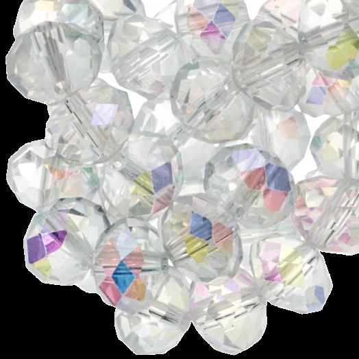 Facetkralen Rondell (2 x 3 mm) Transparent Shine (150 Stuks)