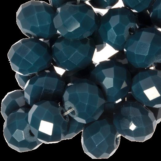 Facetkralen Rondell (8 x 6 mm) Dark Petrol (72 Stuks)