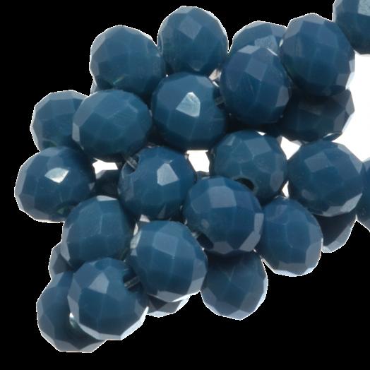 Facetkralen Rondell (3 x 4 mm) Yale Blue (147 Stuks)