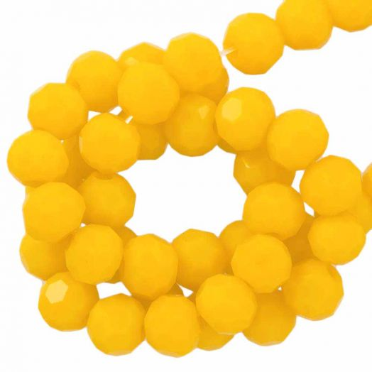 Facetkralen Rond (4 mm) Canary Yellow (98 Stuks)