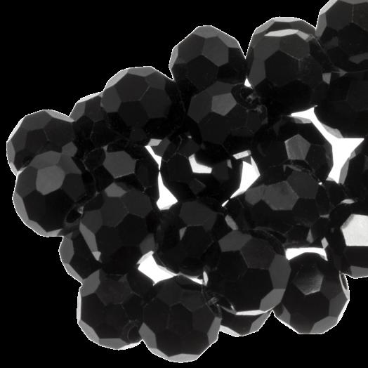 Facetkralen Rond (8 mm) Black (72 Stuks)