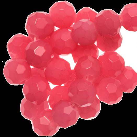Facetkralen Rond (8 mm) Bright Blush Pink (72 Stuks)