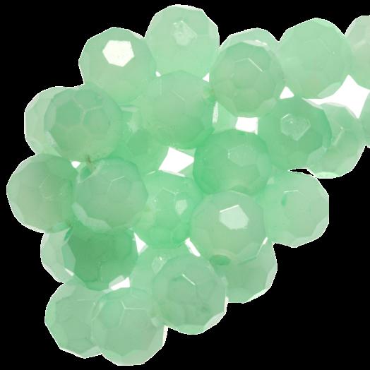 Facetkralen Rond (8 mm) Mint Green (72 Stuks)