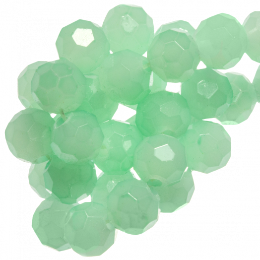 Facetkralen Rond (6 mm) Mint Green (100 Stuks)