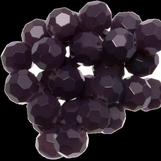Facetkralen Rond (6 mm) Dark Grape (100 Stuks)