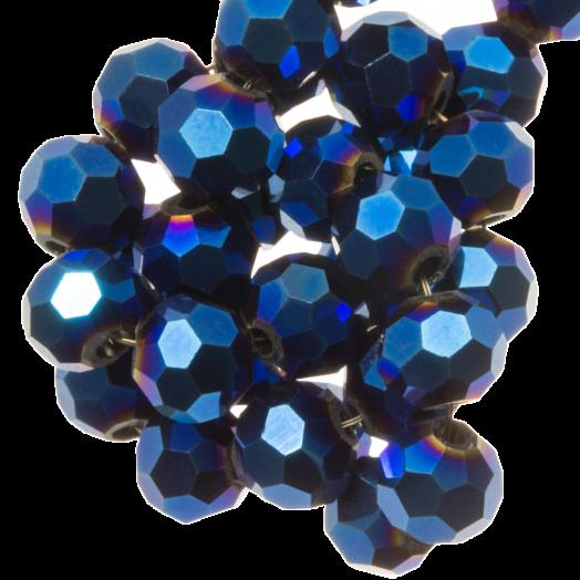 Facetkralen Rond (6 mm) Blue Shine (100 Stuks)