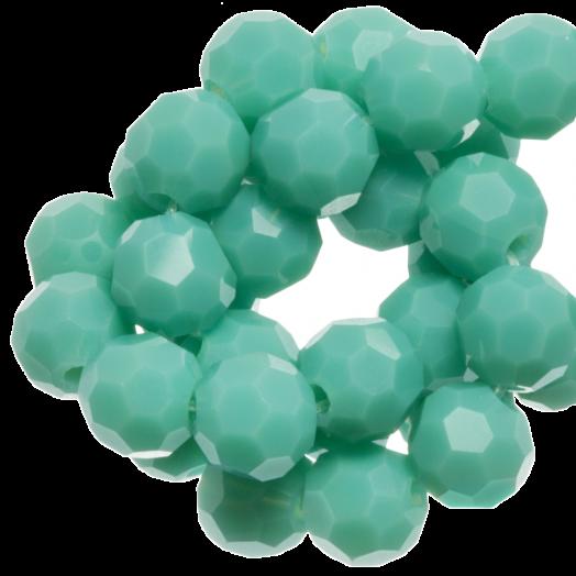Facetkralen Rond (4 mm) Light Green Peppermint (98 Stuks)