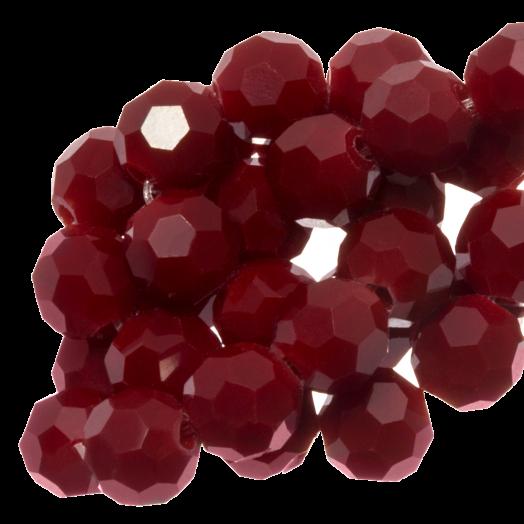 Facetkralen Rond (4 mm) Crimson Red (98 Stuks)