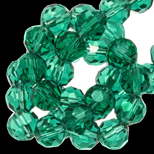 Facetkralen Rond (8 mm) Transparent Green (72 Stuks)