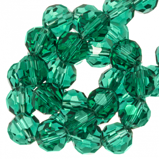 Facetkralen Rond (4 mm) Transparent Green (98 Stuks)