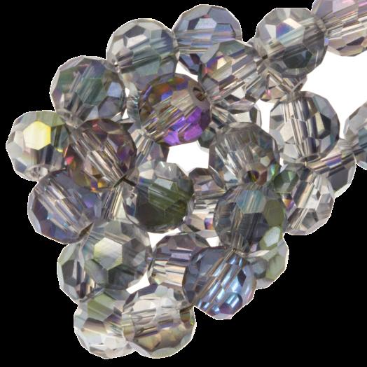 Facetkralen Rond (6 mm) Transparent lilac grey Shine (100 Stuks)