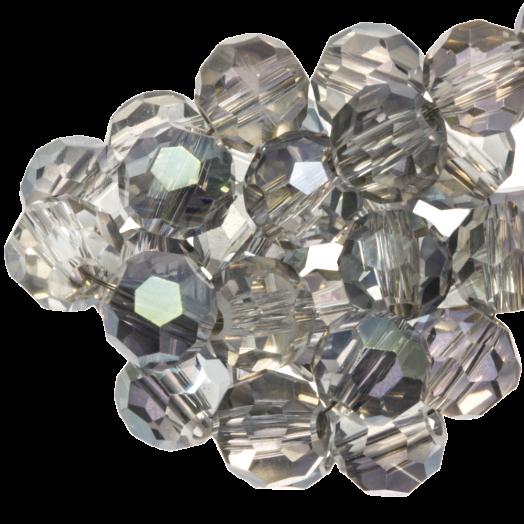 Facetkralen Rond (4 mm) Transparent Grey Shine (98 Stuks)
