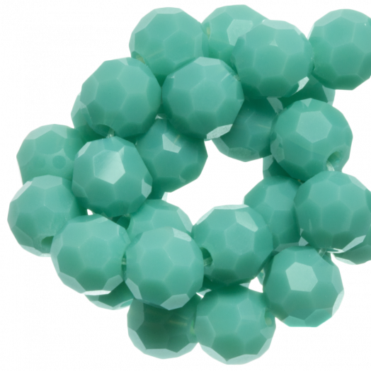 Facetkralen Rond (6 mm) Peppermint (100 Stuks)