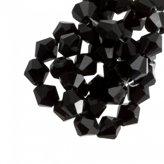 DQ Facetkralen Bicone (8 mm) Black (15 Stuks)