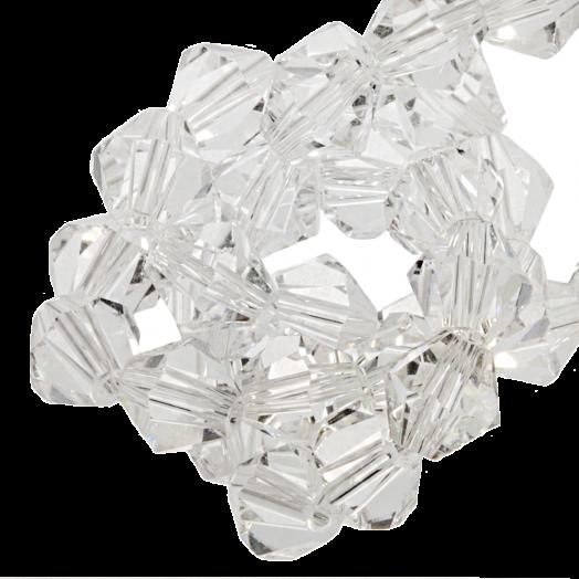 Facetkralen Bicone (4 mm) Transparent (110 Stuks)