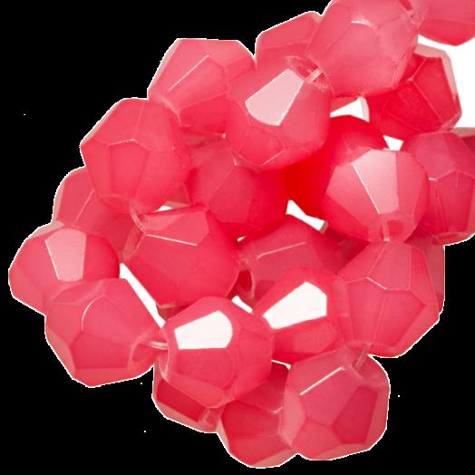 Facetkralen Bicone (6 mm) Bright Blush Pink (50 Stuks)