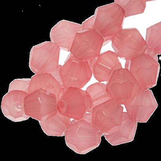 Facetkralen Bicone (6 mm) Salmon Pink (50 Stuks)