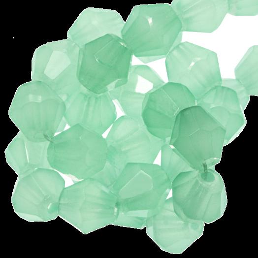 Facetkralen Bicone (6 mm) Mint Green (50 Stuks)