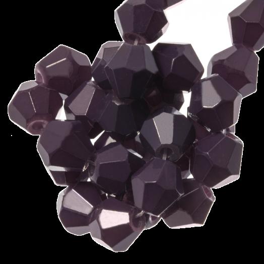 Facetkralen Bicone (4 mm) Dark Grape (110 Stuks)