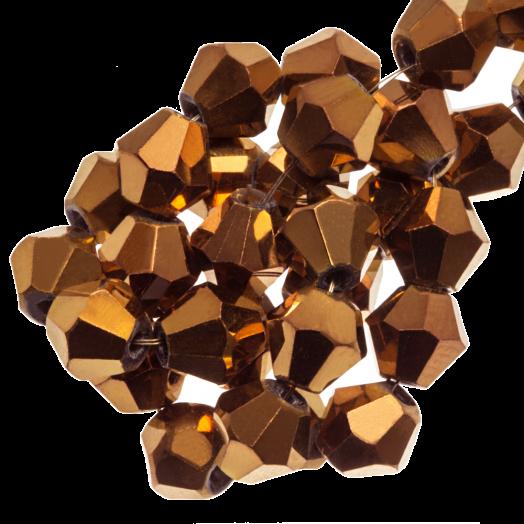 Facetkralen Bicone (6 mm) Copper Shine (50 Stuks)