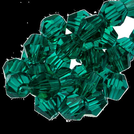 Facetkralen Bicone (6 mm) Transparent Green (50 Stuks)