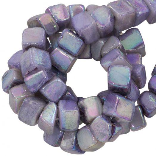 Zoetwaterparel- Schelp Kralen (6 - 7 mm) Electroplate Lilac (76 Stuks)