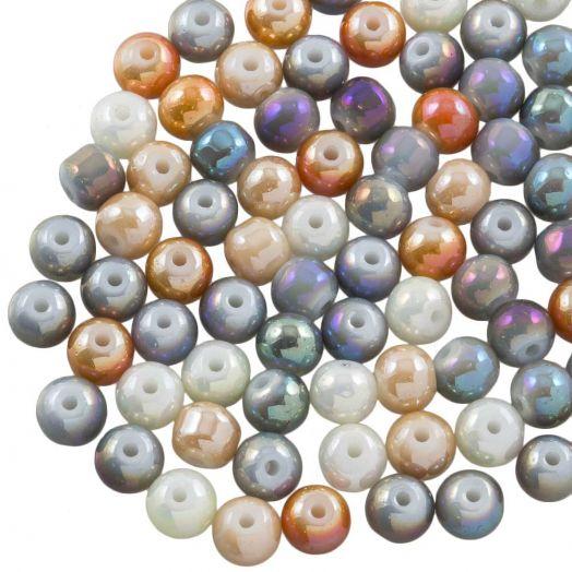 Electroplated Glaskralen (6 mm) Mix Color (100 Stuks)