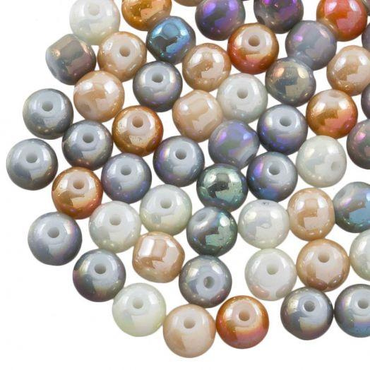 Electroplated Glaskralen (8 mm) Mix Color (90 Stuks)