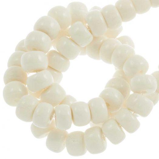Bone Kralen (6 x 4 mm) White (84 stuks)