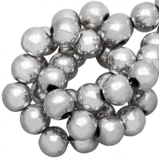 Hematite Kralen Rond (6 mm) Silver (70 Stuks)