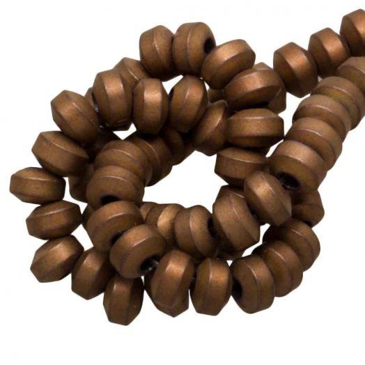 Hematite Kralen Discus (4 x 2.5 mm) Copper (155 Stuks)