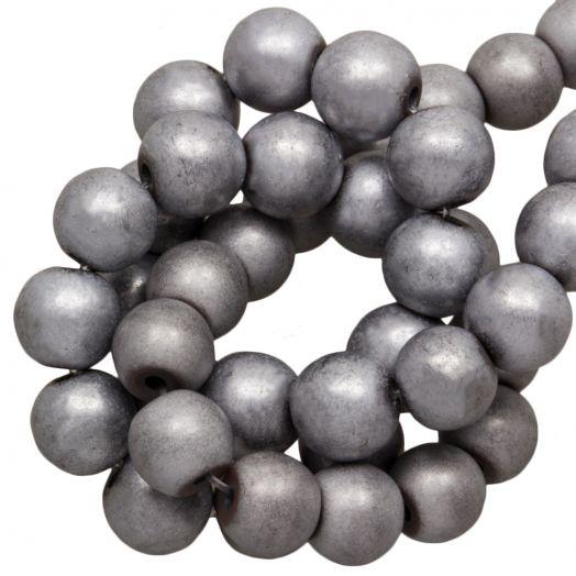 Hematite Kralen Rond (8 mm) Light Grey (33 Stuks)