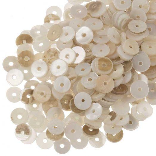 Schelp Kralen (6 mm) Seashell (140 Stuks)